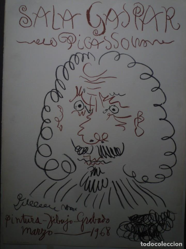 PICASSO. PINTURA, DIBUJO Y GRABADO. SALA GASPAR. BARCELONA. 1968 TÍTULO: CARTEL HISTÓRICO ORIGINAL D (Coleccionismo - Carteles Gran Formato - Carteles Varios)