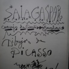 Carteles: PICASSO. DIBUJOS. SALA GASPAR. BARCELONA. 1961. Lote 160289678