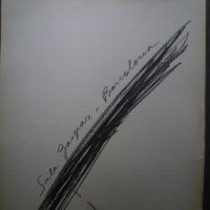 Carteles: ANTONI TÀPIES. SALA GASPAR. BARCELONA. 1969. Lote 160290990