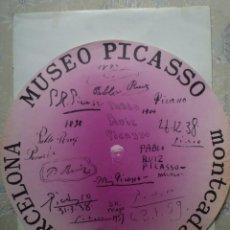 Carteles: PICASSO. MUSEO PICASSO. MONTCADA. 1975. Lote 160487190