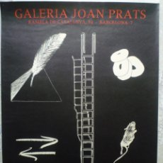 Carteles: MEDINA-CAMPENY. LLIMOS. MUNTADAS. MIRALDA. ZUSH. GALERIA JOAN PRATS. 1977. Lote 160500846