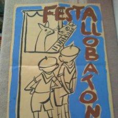 Carteles: ESCULTINO BOY SCOUTS FESTA LLOBATONS. Lote 161794686