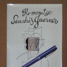 Carteles: CARTEL HOMENAJE MANUEL SANCHIS GUARNER, MANOLO VALDÉS, GENERALITAT VALENCIANA, VALENCIA, 1985. Lote 162397598