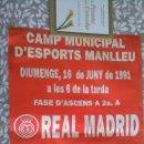 Carteles: MANLLEU, FUTBOL. Lote 162455070