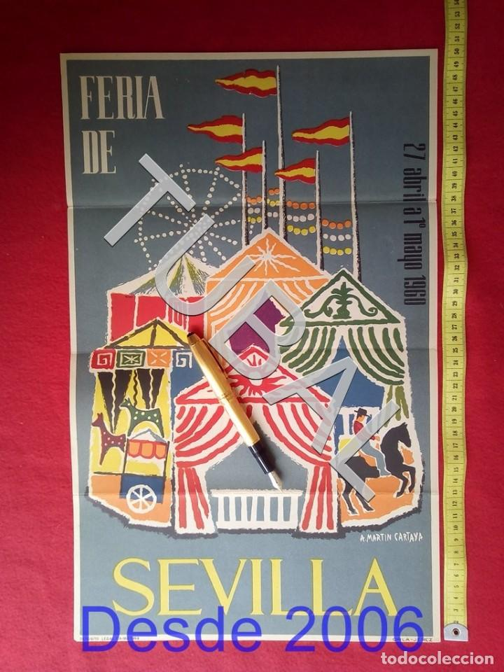 TUBAL CARTEL FERIA SEVILLA 1960 POR MARTIN CARTAYA 100% ORIGINAL C4 (Coleccionismo - Carteles Gran Formato - Carteles Varios)