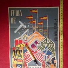 Carteles: TUBAL CARTEL FERIA SEVILLA 1960 POR MARTIN CARTAYA 100% ORIGINAL C4. Lote 163408798