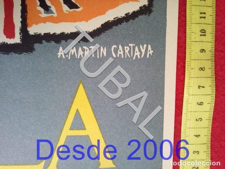 Carteles: TUBAL CARTEL FERIA SEVILLA 1960 POR MARTIN CARTAYA 100% ORIGINAL C4 - Foto 4 - 163408798