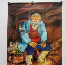 Carteles: GURE OLENTZERO. DIBUJO DE M. MARDONES (1991) 48X70CMS.. Lote 165103014
