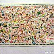 Carteles: PECKHAM (LONDON) ILUSTRADO BY CHARLOTTE TROUNCE 43X63. IDEAL ENMARCAR.. Lote 165156226