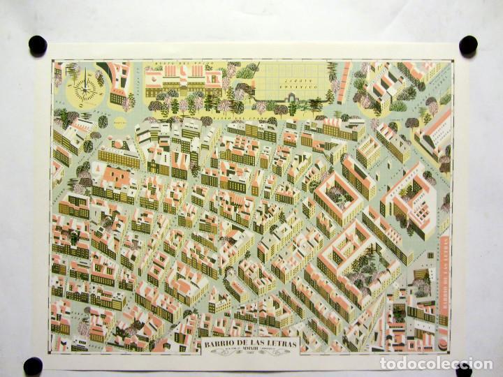 BARRIO DE LAS LETRAS (MADRID). WALK WITH ME CARTHOGRAPHIES. 43X63CMS. (Coleccionismo - Carteles Gran Formato - Carteles Varios)