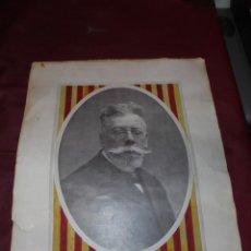 Carteles: MAGNIFICO ANTIGUO CARTEL DE ANGEL GUIMERA 6 MARZO 1847-18 JULIO 1924. Lote 165269386