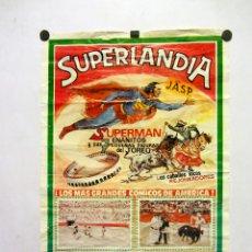 Carteles: SUPERMAN Y LOS 7 ENANITOS TOREROS. CARTEL ESPECTÁCULO PLAZA DE TOROS DE JADRAQUE (GUADALAJARA), 1995. Lote 165496174