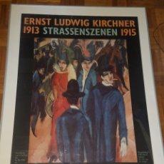 Carteles: BONITO CARTEL EXPOSICIÓN 1994 MUSEO BRUCKE BERLÍN ERNST LUDWIG. Lote 166108452