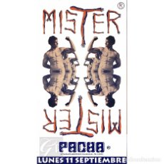 Carteles: POSTER ORIGINAL PACHA IBIZA 1995 ~ MISTER PACHA ~ 35 X 64 CM. Lote 127165247