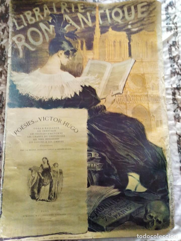 LIBRAIRIE ROMANTIQUE. POSTER. AÑOS 70 (Coleccionismo - Carteles Gran Formato - Carteles Varios)
