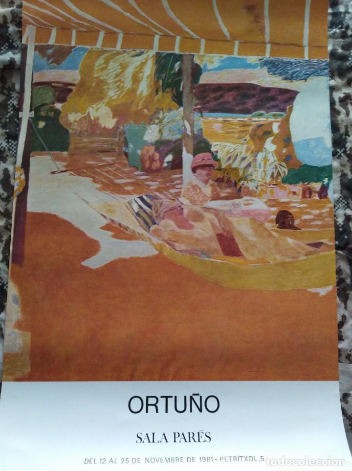 CARTEL ORIGINAL. ORTUÑO. SALA PARÉS. 1981. (Coleccionismo - Carteles Gran Formato - Carteles Varios)
