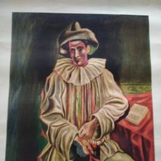 Carteles: POSTER. PICASSO. PIERROT. AÑOS 80.. Lote 166746834