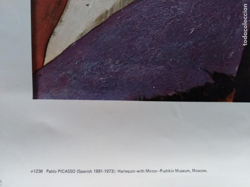 Carteles: POSTER. PICASSO. HARLEQUÍN CON ESPEJO. AÑOS 80. - Foto 3 - 166748418