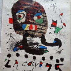 Carteles: CARTEL ORIGINAL LITOGRÁFICO 75 ANIVERSARIO LA CAIXA POR JOAN MIRO. Lote 167741136