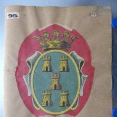 Carteles: PRECIOSOS ESCUDOS LITOGRAFICOS TROQUELADOS DE PEÑARANDA DE BRACAMONTE E IGUALADA, AÑOS 1890-1900. Lote 167831348