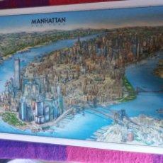 Affissi: LÁMINA PLASTIFICADA DE MANHATTAN NEW YORK 1990. Lote 168281253