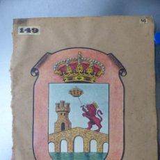 Carteles: PRECIOSOS ESCUDOS LITOGRAFICOS DE ORENSE Y VILLAJOYOSA, ALICANTE, AÑOS 1890-1900. Lote 169288360