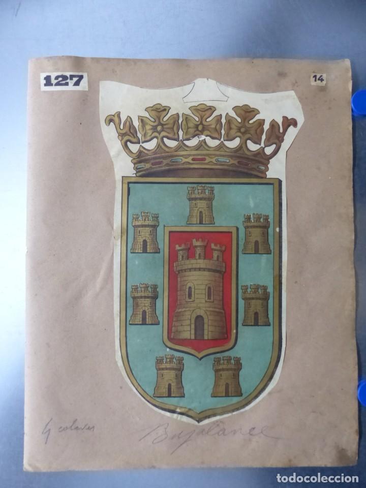 PRECIOSOS ESCUDOS LITOGRAFICOS DE BUJALANCE, CORDOBA Y SORIA, AÑOS 1890-1900 (Coleccionismo - Carteles Gran Formato - Carteles Varios)