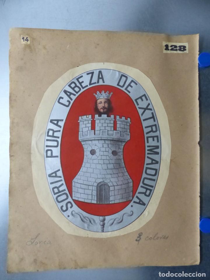 Carteles: PRECIOSOS Escudos Litograficos de BUJALANCE, CORDOBA y SORIA, años 1890-1900 - Foto 3 - 169290496