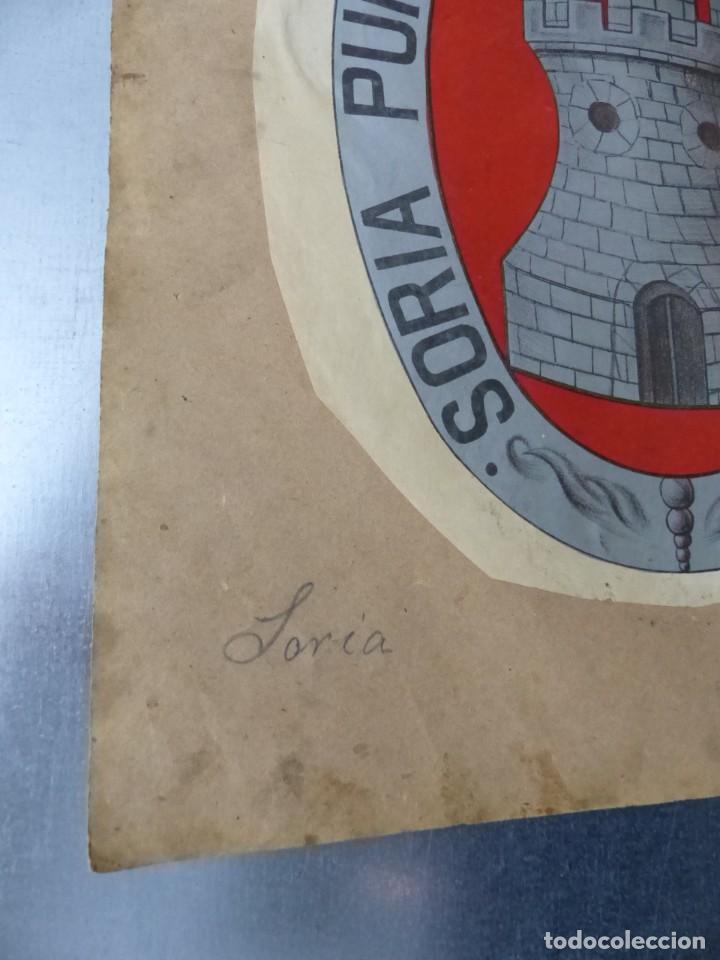 Carteles: PRECIOSOS Escudos Litograficos de BUJALANCE, CORDOBA y SORIA, años 1890-1900 - Foto 4 - 169290496