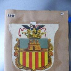 Carteles: PRECIOSOS ESCUDOS LITOGRAFICOS DE CASTELLON Y BRIHUEGA, GUADALAJARA, AÑOS 1890-1900. Lote 169292428