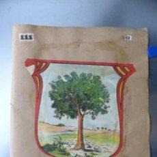 Carteles: PRECIOSOS ESCUDOS LITOGRAFICOS DE OLIVA, VALENCIA Y PROVEEDOR DE LA REAL CASA, AÑOS 1890-1900. Lote 169292924