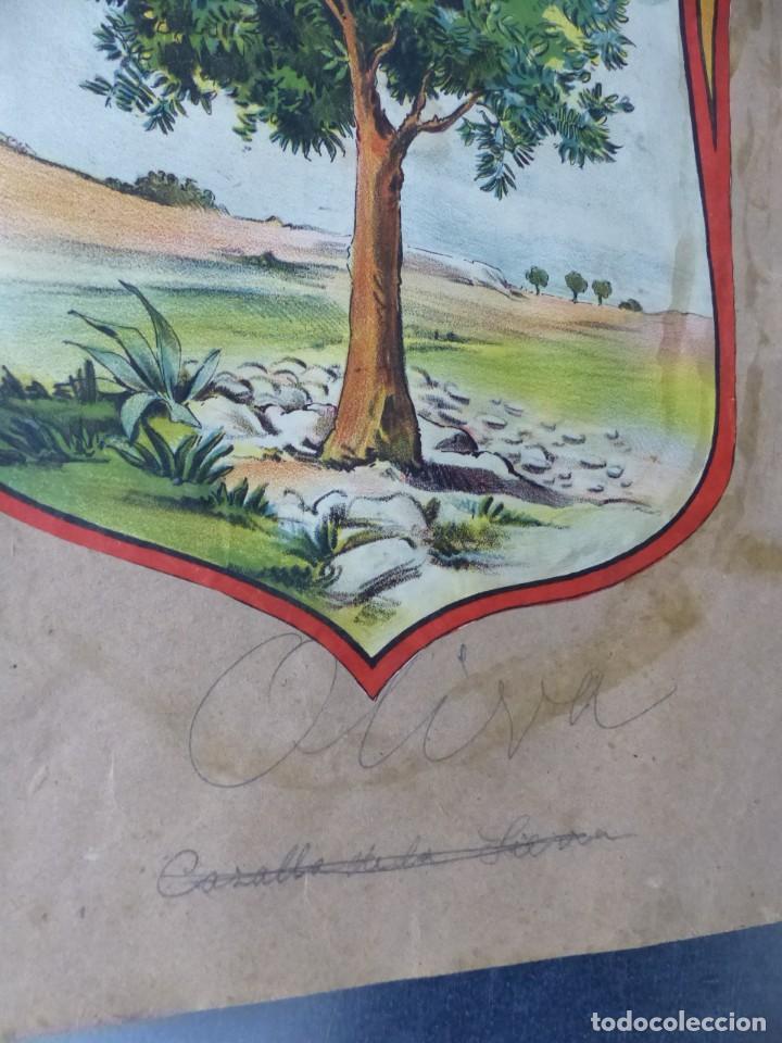 Carteles: PRECIOSOS Escudos Litograficos de OLIVA, VALENCIA y PROVEEDOR DE LA REAL CASA, años 1890-1900 - Foto 2 - 169292924