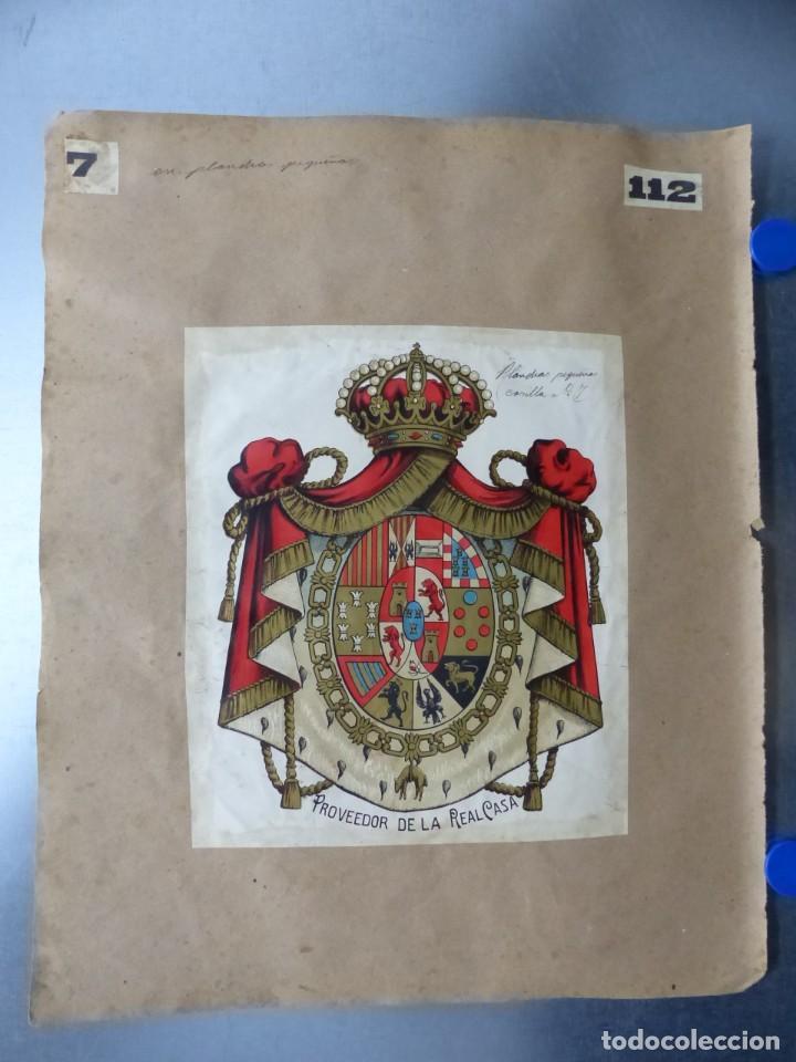 Carteles: PRECIOSOS Escudos Litograficos de OLIVA, VALENCIA y PROVEEDOR DE LA REAL CASA, años 1890-1900 - Foto 3 - 169292924