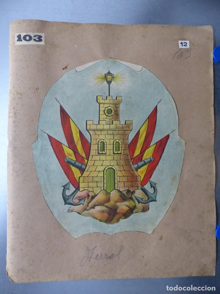 PRECIOSOS ESCUDOS LITOGRAFICOS DE FERROL, LA CORUÑA Y CIUDAD RODRIGO, SALAMANCA, AÑOS 1890-1900 (Coleccionismo - Carteles Gran Formato - Carteles Varios)