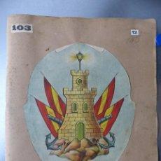 Carteles: PRECIOSOS ESCUDOS LITOGRAFICOS DE FERROL, LA CORUÑA Y CIUDAD RODRIGO, SALAMANCA, AÑOS 1890-1900. Lote 169293940
