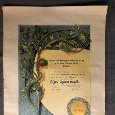 Carteles: PATERNA (VALENCIA) CARTEL: FIESTAS DEL SANTÍSIMO CRISTO DE LA FE Y DE SAN VICENTE FERRER (A.1963). Lote 169662077