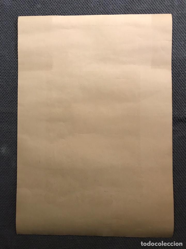 Carteles: DIPLOMA, firmas recogidas en Gratitud al profesor por la enseñanza recibida. MEDIDAS: 50 x 35 cm., - Foto 3 - 169662625