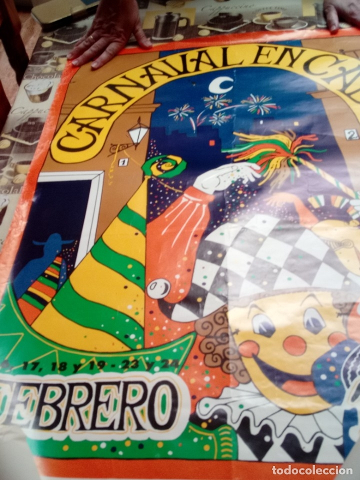 Carteles: CARTEL. CARNAVAL DE CADIZ 198095,5 X 62. EST3B6.B - Foto 2 - 172643530