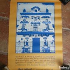 Carteles: ANTIGUO CARTEL DE CONCIERTOS DE LOS SÁBADOS-HOSPITAL DE LA CARIDAD-SEVILLA-ORIGINAL AÑOS 70-80. Lote 173160575