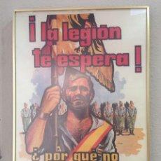 Carteles: CARTEL BANDERIN DE ENGANCHE DE LA LEGION AÑOS 70-80. Lote 175453092