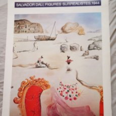 Affissi: CARTEL EXP. SALVADOR DALÍ - FIGURAS SURREALISTAS 1944. Lote 176585148