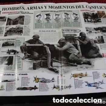 Carteles: LA SEGUNDA GUERRA MUNDIAL • POSTER DESPLEGABLE DE MUY INTERESANTE • 86 X 54 CM • IMPRESO A DOS CARA - Foto 4 - 177689625