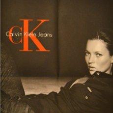 Carteles: CALVIN KLEIN JEANS - KATE MOSS - CARTEL ICONO DE LA MODA - 1999 - UNICO EN TC. Lote 178301262