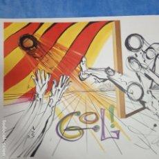 Affissi: CARTEL SURREALISTA DE SALVADOR DALÍ DONADO AL CLUB DE FÚTBOL SAN ANDREU BCN. Lote 178605447