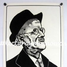 Carteles: JAMES JOYCE. POR BILL DRAKEFORD. CARTEL ORIGINAL DE LOS AÑOS 80. 52 X 76 CMS.. Lote 178630442