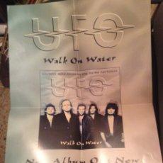 Carteles: POSTER UFO POSTER PRESENTACION DISCO WALK ON WATER 59X42 CM. Lote 178857736