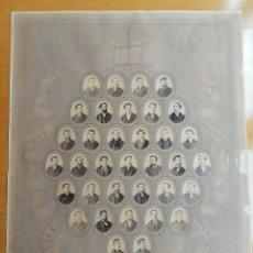 Carteles: ORLA DE LA FACULTAD DE DERECHO DE BARCELONA AÑO 1871-72 . 35 ALBUMINAS NOMINALES.. Lote 178892806