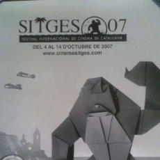 Carteles: 5 CARTELES DE CINE SITGES 40 ANIVERSARIO, JAZZ LUGO. Lote 179109055