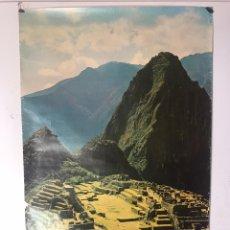 Carteles: ANTIGUO PÓSTER MACHU PICCHU PERÚ. Lote 180205247