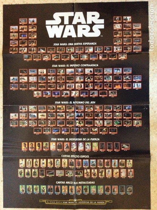 CARTEL GUIA DE LA COLECCIÓN DE STAR WARS CON LAS FOTOS DE LAS CARTAS DE EL DESPERTAR DE LA FUERZA (Coleccionismo - Carteles Gran Formato - Carteles Varios)